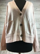 ASOS Cardigan In Body Fit With Button Detail Light Pink Size 8