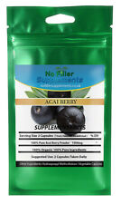 100% Pure Organic Acai Berry Vegetable Capsules No Fillers Weight Loss