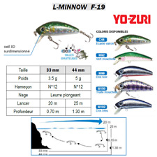 YO-ZURI Spinners / Lures - L-MINNOW F-19 Sea Trout Pike Perch Salmon Bass Tackle