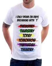 t-shirt frasi humor - I only drink - To give happiness by tshirteria v48