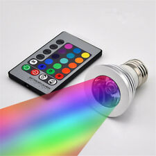 3W E27 16 Color Changing RGB LED Light Bulb + IR Remote Control Party Decor
