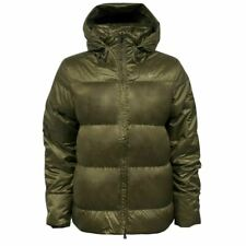 Nike Zip Up Khaki Puffer Quilted Goose Down Hooded Womens Jacket 447991 232 M11