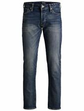 Jack & Jones Pantaloni Jeans Uomo MIKE001 Comfort Fit Denim Blu 28 - 36