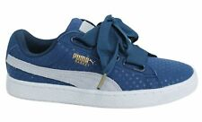 Puma Basket Heart Denim Lace Up Navy Womens Trainers 363371 01 M14