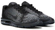 Nike Air Max SEQUENT 2 Knitted Print  Mens Adults Sports Running Trainers Black