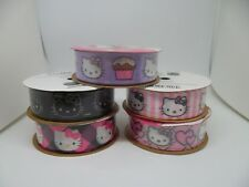Hello Kitty Ribbon 7/8in X 9ft CHOOSE 1 Design POLYESTER