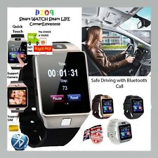 DZ09 Bluetooth Smart Watch For HTC Samsung Android Phone with Camera SIM slot UK
