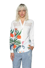Desigual A Theory of Fun Shirt XS-XXL UK 8-18 RRP ?74 White Hand Drawn Floral