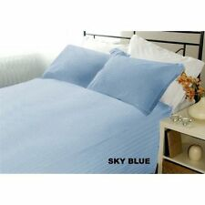 1000 Thread Count Sky Blue Striped Duvet Collection Egyptian Cotton Select Size