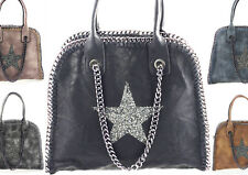 Borsa per donna stella strass effetto motivo CATENA SHOPPER BAG MAGLIFICIO LOOK