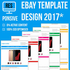 eBay Mobile Responsive Template Auction Listing Professional HTTPS Secured 2018