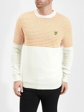 Lyle And Scott Mens Knitwear KN807V KN807V Half Breton Jumper   White