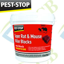 Pest-Stop Super Mouse and Rat Killer Fast Poison Wax Blocks 15 x 20g