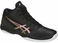 ASICS New Men's VOLLEY GELHOOP V 10 Volley Ball Shoes Black Bordeaux Authentic