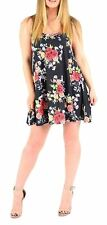 Ladies Floral Printed Cami Swing Dress Top Womens Sleeveless Strappy Dress Top