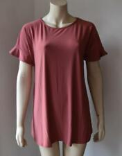 LIGHT ROSE SHORT SLEEVE STRETCHABLE TOP size M- XL  new with tag #10