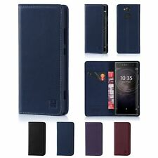 32nd Classic Series - Real Leather Book Wallet Case Cover For Sony Xperia XA2
