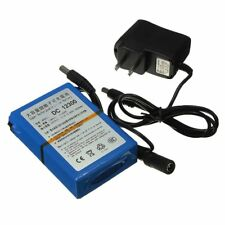 12V 3000mAh Super Rechargeable Li-ion Battery Pack+Adapter Plug Charger IB