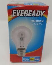 30w Halogen Clear Eco GLS Eveready Light Bulbs BC Bayonet Cap B22 Push In 40w