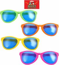 Adult Giant Assorted Colors Sunglasses Novelty Party Accessory (Pack of 4) 28cm
