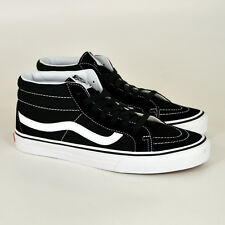 Vans Sk8-Mid,Black/Cierto Blanco VA391F6BT Mid-Top Zapatillas,Zapatillas Skate