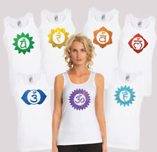 Racer back black Tank top with glitter chakras. Choose your favorite chakra.