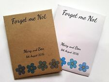 10 Handmade Personalised Forget Me Not Seed Wedding Favours Gifts