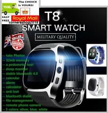 New Model 2018 T8 Bluetooth Smart Watch Phone Wrist watch for Android and iOS UK