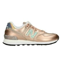 NEW BALANCE Sneakers metallic gold scarpe donna mod. WL574NRG