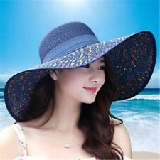 Straw Hats For Women's Female Summer Ladies Wide Brim Beach Hat Sexy Large Caps
