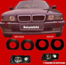 BMW E38 Blinds Shrouds Right and Left Xenon / Halogen Headlight Black New