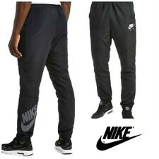 Nike Air Mens Black Woven Tracksuit Bottoms Slim Tapered Training Jog Track Pant