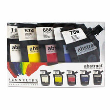 Sennelier Abstract Acrylic Paint Set - 5x120ml pouch - 4 Sets to Choose From