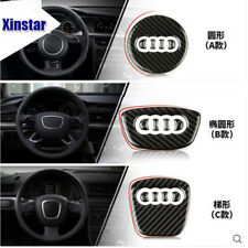 Car Styling Steering Wheel Steering-Wheel Carbon Fiber 3D Car Stickers For Audi