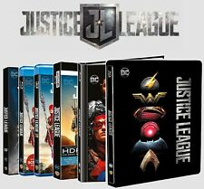 JUSTICE LEAGUE Home Video Edition (DVD, BLU-RAY 2D +3D +4K, Digibook, Steelbook)