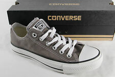 CONVERSE ALL STAR Chaussure à lacets baskets, gris, textile / lin, NEUF