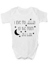 I LOVE MY DADDY TO THE MOON AND BACK FUNNY BABY GROW BODY SUIT VEST