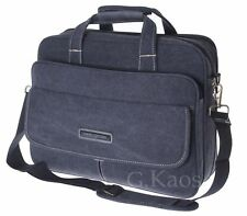 Aoking - Borsa Canvas Cartella 24 Ore Porta Documenti PC Tablet X Ufficio Uomo