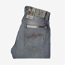 Nudie Jeans, stretto Terry, sottile Beat, Celeste, 112662, ANTI FIT , NUOVO