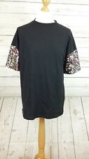 ASOS Oversized T-Shirt With Rainbow Sequin Sleeves BLACK SIZE L £25.00