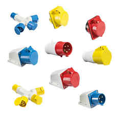 240V 415V & 110V Industrial Plugs Sockets Connectors IP44/Earth Contact Position