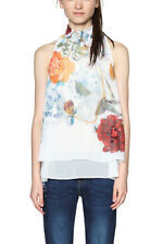 Desigual Modern Lovers Blouse White Watercolour Floral XS-XXL UK 8-18 RRP �64