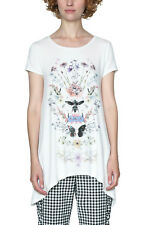 Desigual White Apostolos Tshirt Top XS-XXL UK 8-18  RRP �44 Butterfly Dragonfly