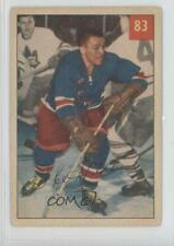 1954-55 Parkhurst #83.1 Ike Hildebrand (Base) Chicago Blackhawks RC Hockey Card