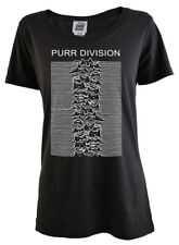Purr Division Scoop Neck T-Shirt by Darkside *Joy Division / Unknown Pleasures*