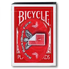 Blank Face 809 Mandolin Back by USPCC (Red or Blue Backed) Great for Card Magic!