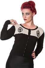 Vintage Gothic Victorian Skull Sawyer Cardigan from Banned Apparel