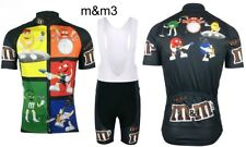 CICLISMO  MTB MAGLIA + SALOPETTE CARTOON TEAM 3 M&M CYCLING SET 2017