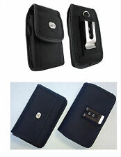 Canvas Vertical / Horizontal Cell Phone Holder Cover Case Pouch Side B