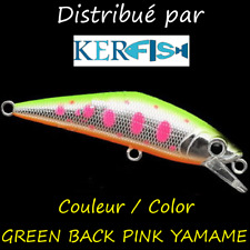 LEURRE POISSON NAGEUR SSO PAYO TWITCHER 50 TRUITE GREEN BACK PINK YAMAME